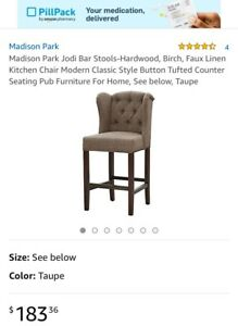Madison Park Jodi Tufted Wing Counter Stool FPF20-0283