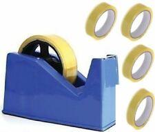 More details for desktop heavy duty heavy weight sellotape cellotape tape dispenser +4 rolls tape