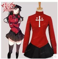 Anime Fate/stay Night Rin Tohsaka uniforme Vestido y falda de Halloween Cosplay Disfraz