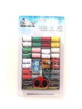 49 pcs Sewing travel Kit, Color Thread, Scissors, Buttons, Needles, Safety Pins