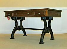 Liberty Furniture Arlington House Writing Desk, Trestle Base, Industrial Style