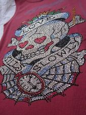 ED HARDY by Christian Audigier - Tank Top - rot - Strass - Größe S - NP € 129,--