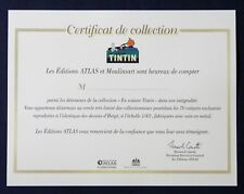 "OFFICIAL ""CERTIFICAT DE COLLECTION""  LES VOITURES DE TINTIN"