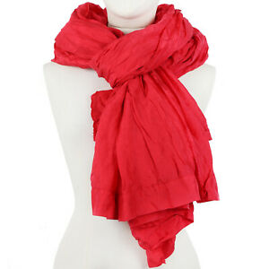 Casey Casey Large Red Silk Shawl Scarf