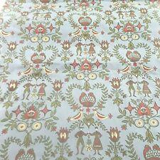 Bucks County Dutch Floral Waverly Fabric Drapery Upholstery Blue Cotton 2.5yds
