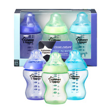 Tommee Tippee  Colour My World Bottles  3x  260ml  Boys/Girls  Age 0m+  Bpa free