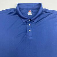 Hanes Cool Dri Polo Shirt Men's Size 2XL XXL Short Sleeve Blue Casual Polyester