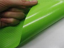 """12""""x24"""" 3D Green Carbon Fiber Vinyl Car Wrap Sheet Roll Film Sticker Decal"""
