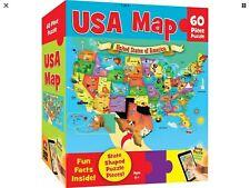 MasterPieces Explorer Kids - USA Map - 60 Piece Kids Puzzle New