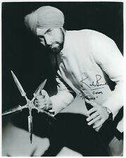KABIR BEDI SIGNED 10x8 JAMES BOND 007 PHOTO - UACC & AFTAL RD AUTOGRAPH