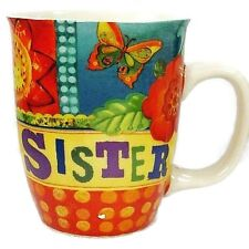 Carson Homes Coffee Mug Cup 14 oz Ceramic Colorful Sister