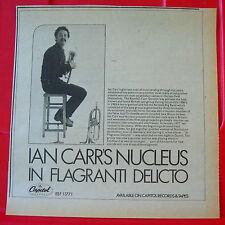 """Ian Carr's Nucleus In Flagrante Delicto Vintage ORIG '78 Press/Mag ADVERT 8""""x7.5"""