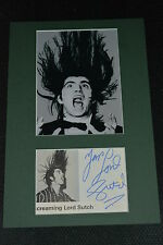 Screaming Lord Sutch signed autógrafo 20x30 cm en persona Passepartout +1999 rar