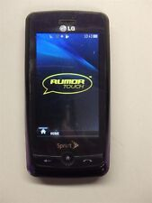 Purple LG Rumor Touch LN510 Sprint 3G Slider Cell Phone Touch & QWERTY Clean ESN
