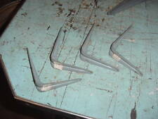 VINTAGE IRON SHELF BRACKETS 5 x 4 LOT OF 4 METAL SHELVES 70s 80s GREY