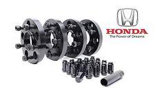 4x 20mm 5x114.3 Honda Hub Centric Wheel Spacers 64.1 mm Hubs 12x1.5 Lug Nuts