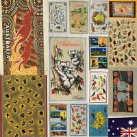 Australia Souvenir Tea Towels Linen Assort Designs 100% Cotton Flag Map Koala