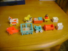 New ListingVtg Fisher Price Little People Nursery Furniture Baby Crib Rocking Horse Sinks
