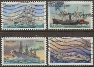 Scott #4548-51 Used Set of 4, U.S. Merchant Marine (Off Paper)