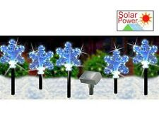 Powered by the Sun  Garden Xmas Snowflakes Set Of 5 Get Ready For Xmas 2018 Now
