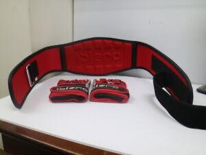 Weight Lifting Belt M Gym Gloves L Fitness IBLERO MRX 2pcs Set