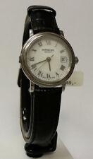 Raymond Weil 53741st-w01 00375 p.m. relojes analógicos cuero negro