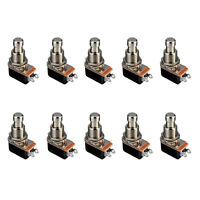 10 X Electric Guitar Effects Pedal Box Momentary Push Button Stomp Foot Switch