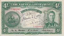 Bahamas 4 Shillings 1936 XF