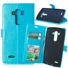 Luxury Book Card Leather Wallet Flip Stand Case Cover Pouch For LG Optimus Phone