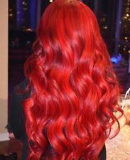 "7A Brazilian Red 20"", 22"", 24"" Natural Straight Human Hair Bundles 18"" Frontal"