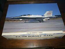 "Hasegawa F-18B Hornet ""NASA"" 1/48 FEDEX,Extra Gift, NR."