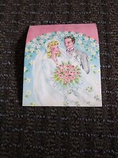 Vintage Anniversary Son & Daughter-in-law Embossed Pretty Congratulations Unused