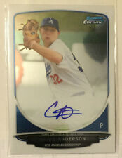 Chris Anderson 2013 Bowman Chrome Draft Picks Prospect on-card Auto - LA DODGERS