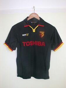 Watford Away Black Football Shirt 2001 - 2003 - Childs Size LB Age 8 - 10