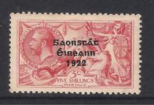 Ireland Eire - 1922/23 KGV 5/-  Wide Date Overprint, SG65, MM (2 scans)