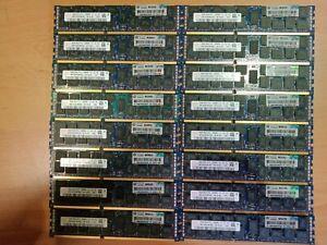 HP HPE Hynix 16GB 2Rx4 PC3-12800R ECC Reg Server RAM 672612-081 HMT42GR7MFR4C-PB