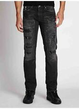 GUESS JEANS New Men's sz 33 GUESS Slim Straight Jeans in Moshpit Wash