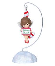 Nib-2Pc Precious Moments Sugar Plum Fairy Ornament & Stand.2014 Sweetest Friend