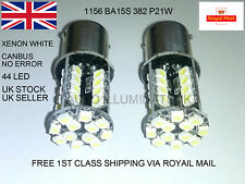 2 X 382 P21W 1156 BA15S 44 LED XENON WHITE CANBUS* LIGHT BULB REVERSE BRAKE STOP
