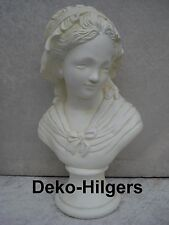 Büste Frauenbüste Kopf Figur Frau Stuckgips Skulptur Säule Statue Crem 2036