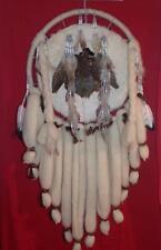 "Dream Catcher Quail Body Leather Rabbit Fur Wool Cabin Lodge Decor 25x53"""