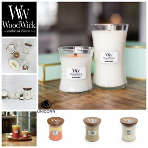WoodWick TropicalSunrise/IslandCoconut/At TheBeach~275g Candle HourglassCRACKLES