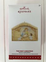Hallmark Keepsake 2015 The First Christmas Book & Ornament Jesus Manger NEW