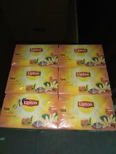 Lipton VANILLA and CARAMEL Tea Bags - Sealed Boxes of 6 x 20 bags = 120 PYRAMIDS