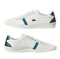 New Lacoste Men's Misano 33 White Leather Lace up casual Fashion Shoes Sneakers