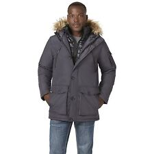 Men's Rocawear Hooded Parka with Bib Charcoal 2XL #NJG1R-532