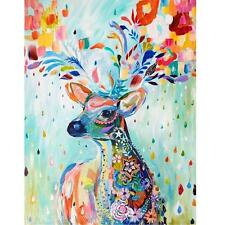 DIY Paint By Number Kit Acrylic Oil Painting On Canvas Colorful Deer Home Decor