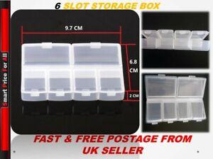 Small Plastic Craft Storage Box Clear Organizer Compartment Jewellery Bead Case