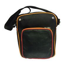 ROMA tracollina regolabile uomo in eco-pelle e stoffa nera 3 tasche con zip 5a86478cb7c