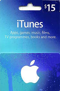 iTunes Gift Card $15 US USD Apple | App Store Key Code | American USA | iPhone